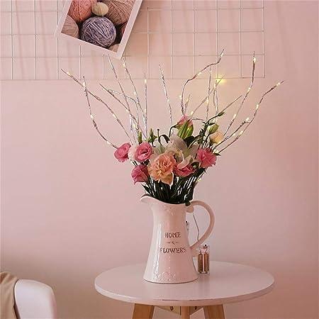 YA-Uzeun - Lámpara LED de Ramas de Sauce, 20 Bombillas, decoración ...