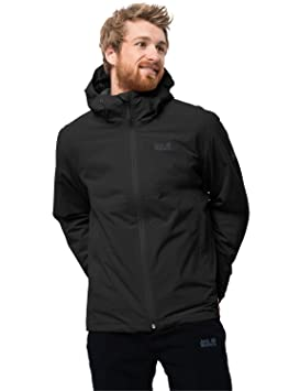a8f86806867 Jack Wolfskin Men's Norrland 3-IN-1 Waterproof Insulated Jacket, Black,  Small