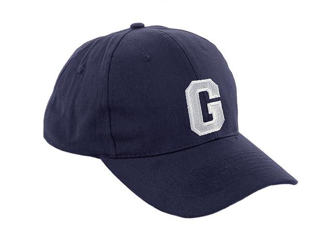 Gorra de béisbol infantil, diseño con letras A-Z, unisex, color azul marino multicolor G Regular: Amazon.es: Ropa y accesorios