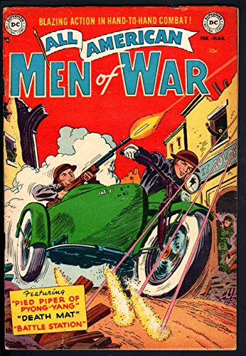 - ALL AMERICAN MEN OF WAR #3 1953-NAZI-WWII-DC COMICS-SIDECAR COVER