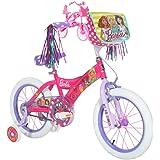 "Barbie Dynacraft Girls BMX Street Bike 16"", Pink/White/Purple"