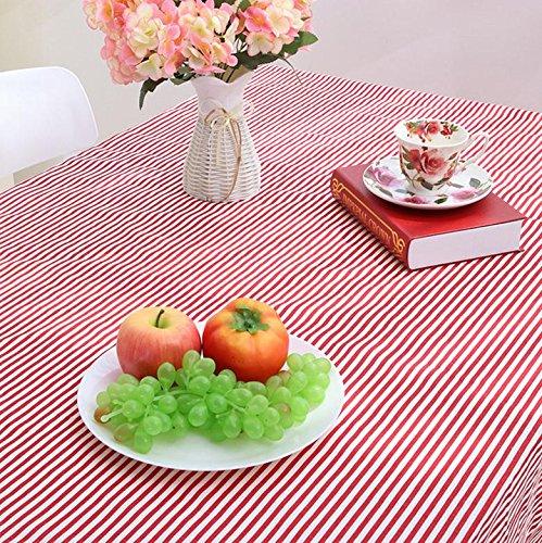 mantel de lino paño de rayas café de la manera sencilla tela de mesa mantel: Amazon.es: Deportes y aire libre