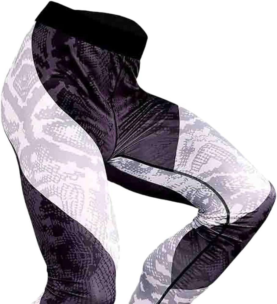 M/änner Compression Tights Atmungsaktiv Schnelltrocknend Radfahren Yoga Celucke Leggings Herren Sport Laufhose Lang Kompressionshose mit Print f/ür Fitness Wandern Training