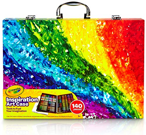 Crayola 140 Count Art Set, Rainbow Inspiration Art Case, Gifts for Kids, Age 4, 5, -