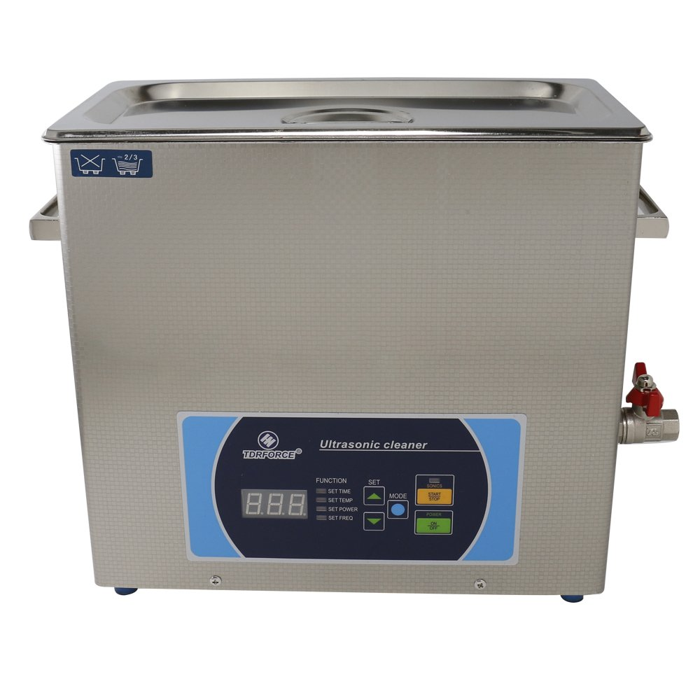 Professional Stainless Commercial Ultrasonic Cleaners 6 Liter 150W Time/Temp/Power/Freq adjustable LED Displays clean Jewelry,Watch,Glasses Tools, Parts ect