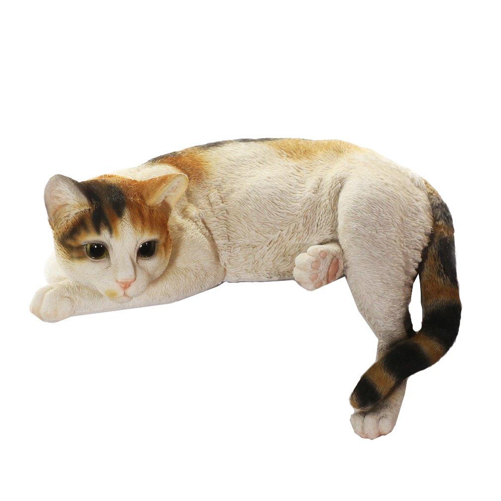 [ファンシー] ネコ 三毛猫 置物 インテリア ガーデニング 猫 好き な 人 へ の プレゼント ガーデンオーナメント 誕生日プレゼント 女性 人気 彼女 母の日 結婚記念日 転居 最適なプレゼント ca05 B07DCKBTQ8