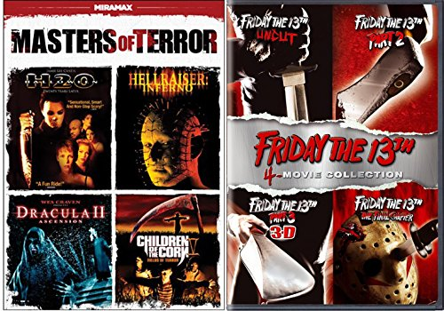 Friday the 13th DVD Movie Collection & Masters of Terror Edition Hellraiser, H2O, Dracula II & Children of the Corn V Slash