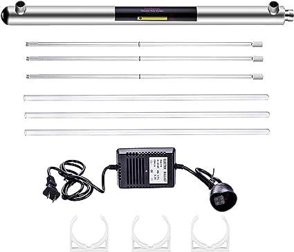 Geekpure - Filtro de agua ultravioleta de 12 GPM para toda la casa ...