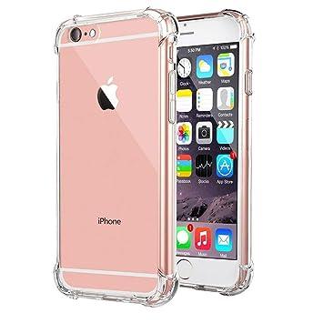 BIZHIKE Funda para iPhone 7/8 Carcasa Silicona Transparente Protector TPU Airbag Anti-Choque Ultra-Delgado Anti-arañazos Case -Transparente