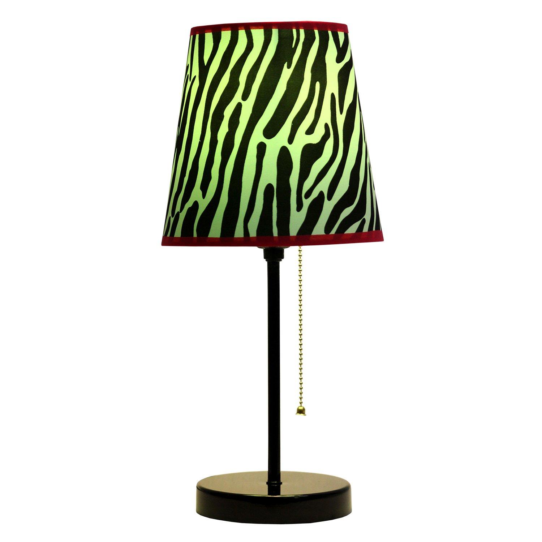 Limelights Lt3000 Zba Fun Prints Table Lamp Black Zebra Hot Pink