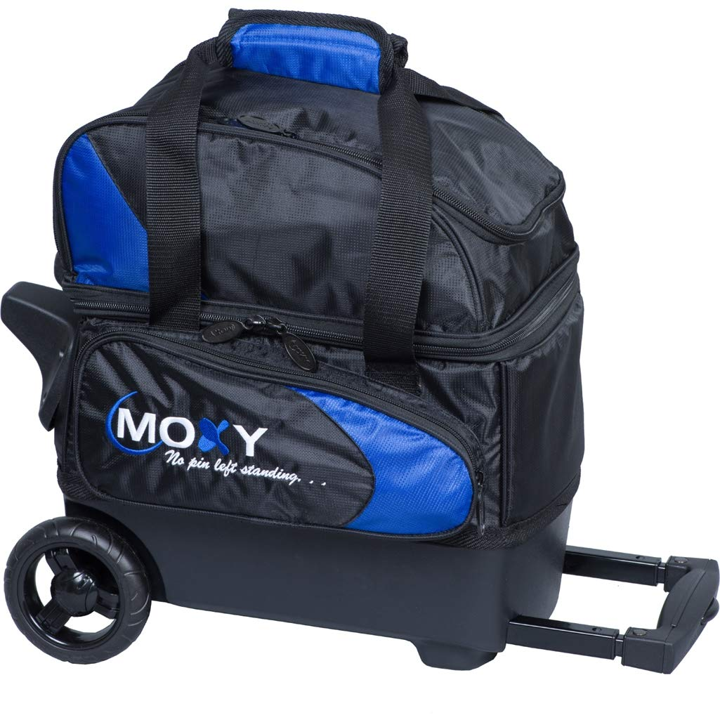 Moxy Bowling Products Single Deluxe Roller Bowling Bag- Royal/Black