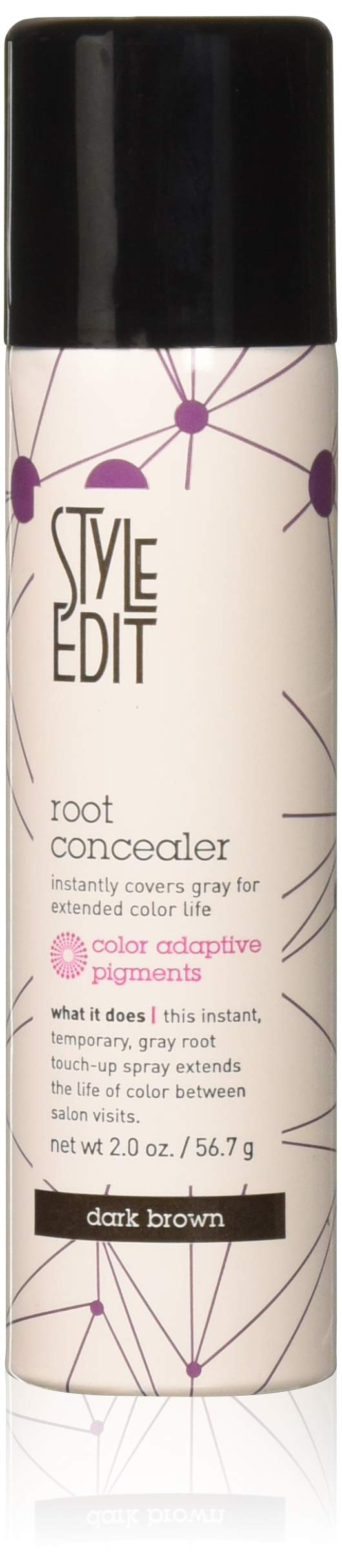 Style Edit Root Concealer, Dark Brown, 2 oz.