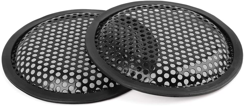 X AUTOHAUX 2pcs Car Speaker Cover Mesh/Protector Woofer Subwoofer Grill 5 Inches