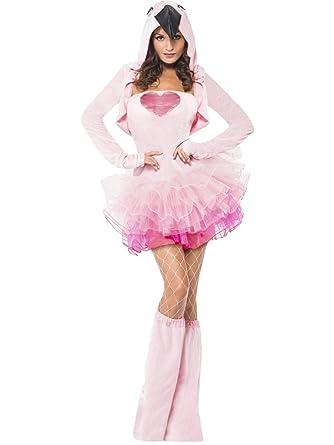 Disfraz Carnaval Mujer Tutu Animal Flamenco Smiffys 40092 ...