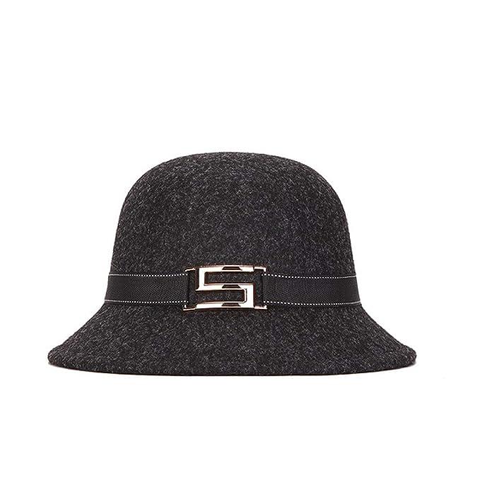 Elegant Women Round Bowler Cap Imitation Wool Fedoras Cotton Cloche Bucket  Hat Vintage Brim Chapeu Feminino 60eba6a7d6b