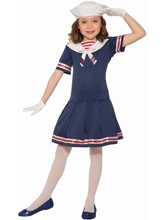 Vintage Style Children's Clothing: Girls, Boys, Baby, Toddler Girls Classic 1920s Sailor Dress Hat Uniform Navy USO Fancy Halloween Costume $21.97 AT vintagedancer.com