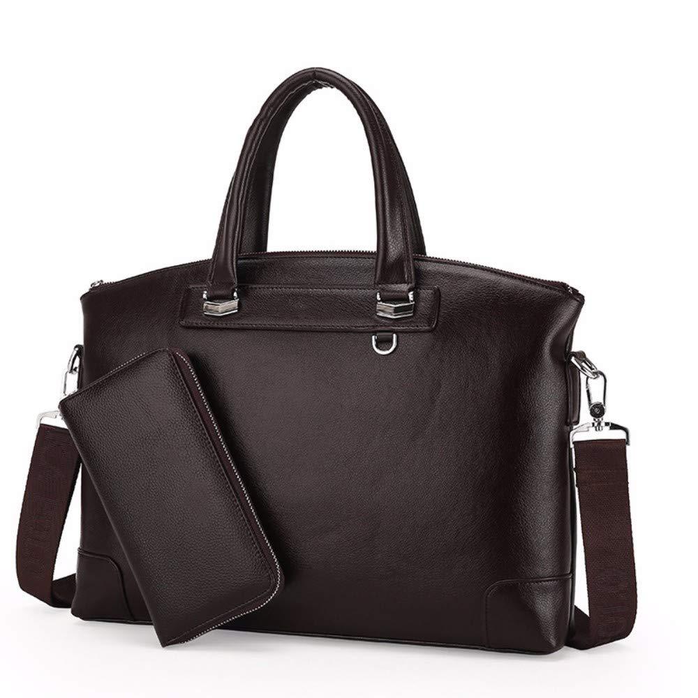 NDFSE-Herrentaschen Mens Business Portable Business Bag Horizontal Portable Computer Bag,Brown