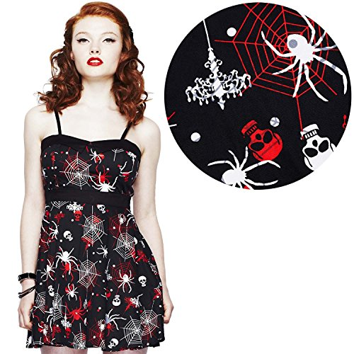 Hell-Bunny-Kirsty-Gothic-Skull-Spider-Web-Mini-Dress