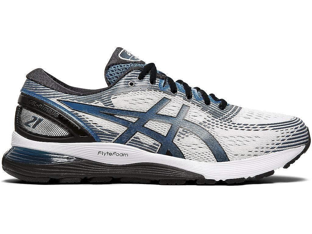 ASICS Men s Gel-Nimbus 21 Running Shoes, 14M, White DEEP Sapphire