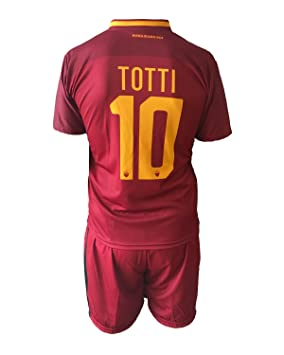 2a88cdaeb67 Complete Replica Jersey and Shorts Football Roma FRANCESCO TOTTI 10  Authorized 2017/2018 Children Young
