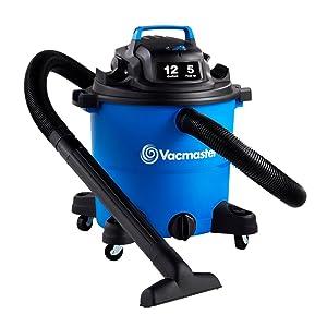 "Vacmaster Vacmaster-12 Gal. Wet/Dry Vacuum 5 HP 2-1/2"" Hose (VOC1210PF), Blue"