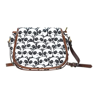 9fc0d15be8fe Image Unavailable. Image not available for. Color  Panda Oxford Fabric  Saddle Bag ...