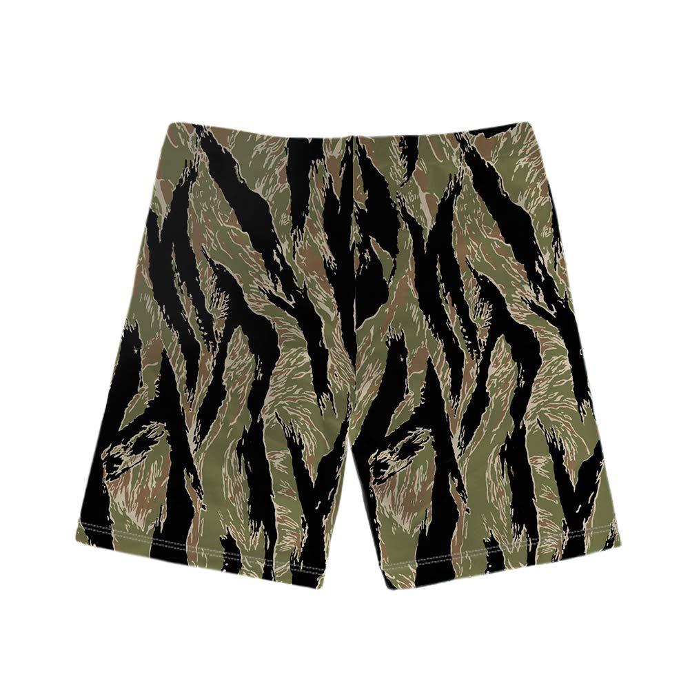 WHEREISART Camouflage Pattern Print Baby Boys Swim Trunks Kids Quick Dry Beach Board Shorts Swimsuit