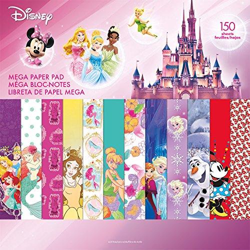 Sandylion Trends International Mega Paper Pad 150 Page Disney Girl