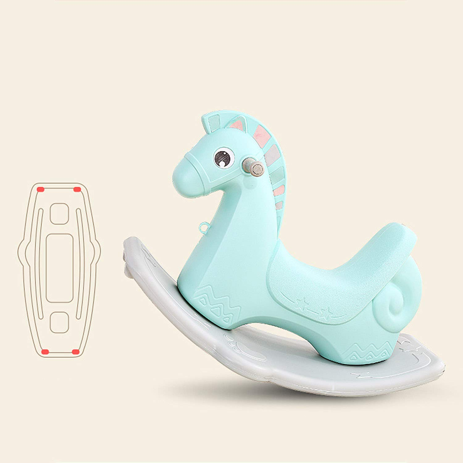 AIBAB Baby Rocking Horse Tumbler Baby Comfort Chair Thick Plastic Multifunction Nursery Boy Girl Toy Gift by AIBAB (Image #8)