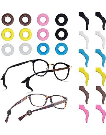 7a4c87ff8b FineGood 12 pares de retenedores de gafas, de silicona, antideslizantes,  para gafas de