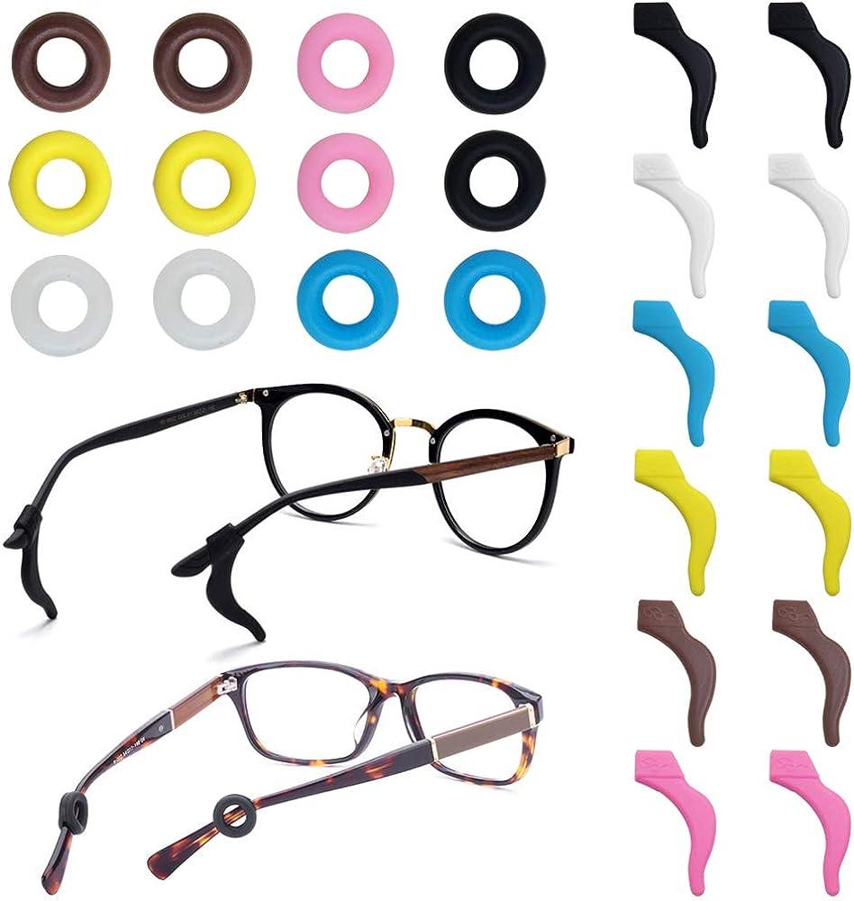 FineGood 12 pares de retenedores de gafas, silicona antideslizante para gafas de sol gafas de lectura