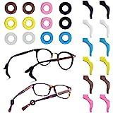 FineGood 12 Pares de Retenedores de Gafas, Lentes Antideslizantes de Silicona Consejos para el Templo Retenedores de Manga Deportivos para Gafas de Sol Gafas Lectura