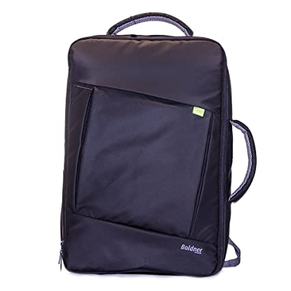 05632abf7e21 Premium Black Laptop Backpack or Messenger Bag, 2 Big Compartments Plus  Cell Pocket, Stylish and Tough Made with 420D Grounding Nylon with Soft  Lining ...