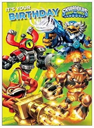 Amazon Skylanders Swap Force Birthday Card With Recorded