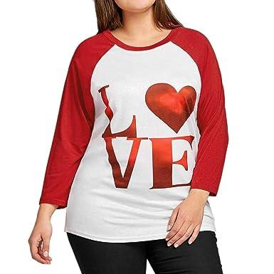b217914901926 Hunputa Women's Valentine S Day Friends Loose Fit Red Love Heart ...