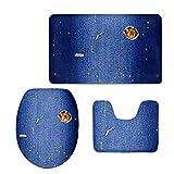 Showudesigns Blue Printing Animal Mouse Bath Room Pad Washable WC Pad