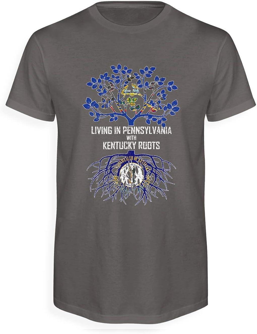 Tenacitee Mens Living in Kentucky Oregon Roots T-Shirt
