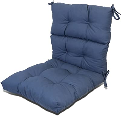 greendale home fashions indoor outdoor high back chair cushion marine blue patio. Black Bedroom Furniture Sets. Home Design Ideas