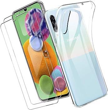 Yoowei para Samsung Galaxy A90 5G Funda + [2-Pack] Cristal ...