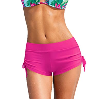 22599fecd5 2018 Hot Sale Womens Shorts Plain Bikini Swim Pants Swimwear Style Briefs  Bottoms Beachwear at Amazon Women s Clothing store