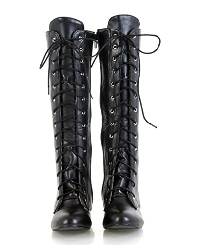 636c05442384 MNII Womens Straps Block Heel Stretch Long Over The Knee Riding Wide Fit  High Boots