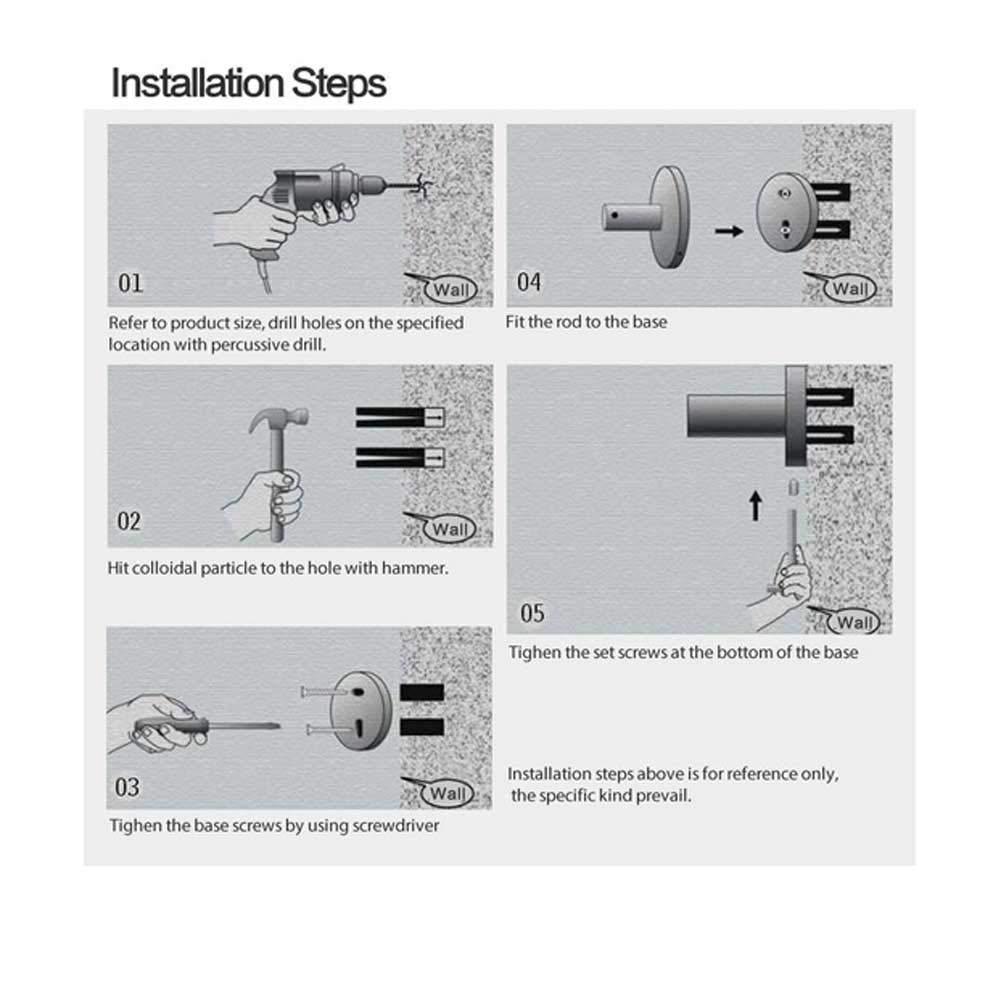 Amazon.com: ZHANGY Accesorios de baño Anillo de toalla, Cobre Retro Toallero, Estilo minimalista de diseño moderno montado en la pared: Home & Kitchen