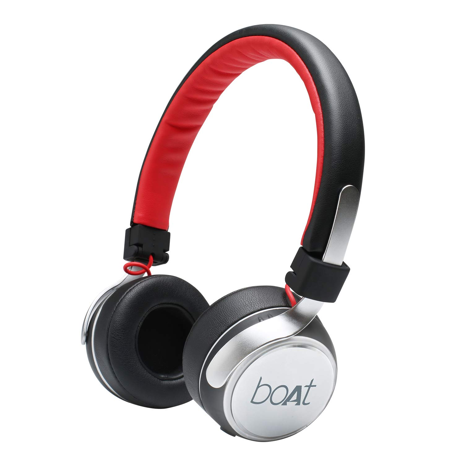boAt Rockerz 640 Wireless On-Ear Headphone (Scarlet Silver)