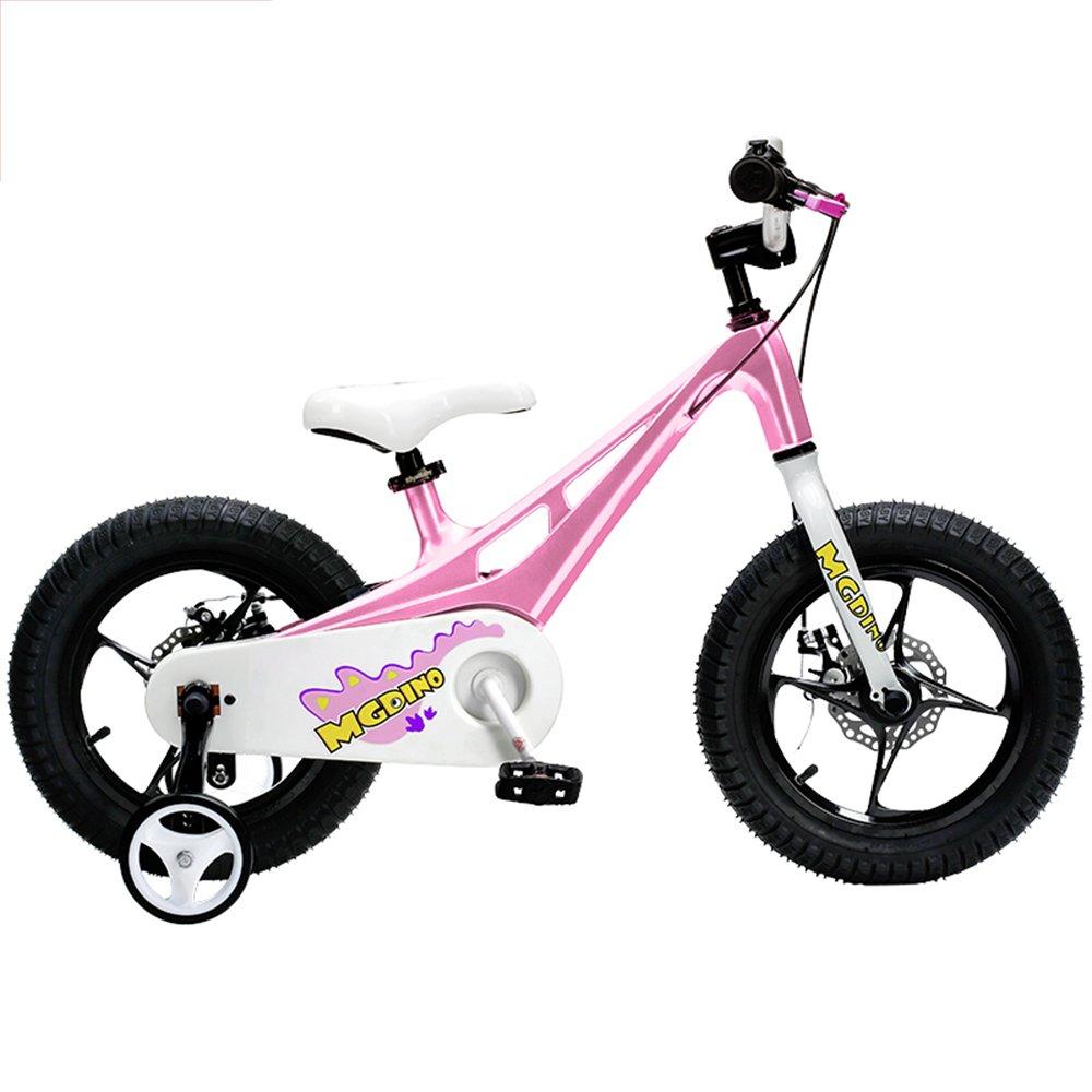 YANGFEI 子ども用自転車 CHILDREN'S KIDS BIKE - 軽量マグネシウムフレーム - スタビライザー - キックスタンド。 212歳  Pink B07HFCM49J