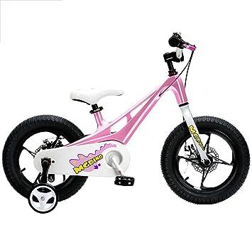 Bicicletas YANFEI Infantil para Niños - Cuadro liviano de magnesio - estabilizadores-Soporte. Regalo para Niños (Color : Pink): Amazon.es: Deportes y aire ...