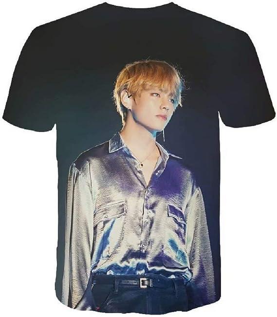 Camiseta unisex BTS Kpop 3D Pirinted Love Yourself Gold Years ...