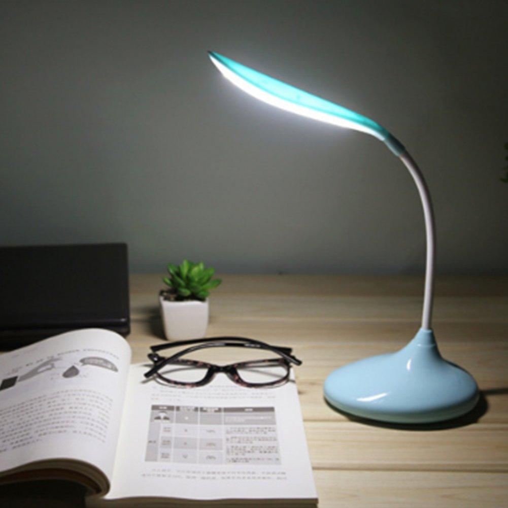 Protezione degli occhi usb LED lampada da scrivania 3/Livelli di Luminosit/à Contatto Touch-Sensitive dimmerabile con Sapling portapenne verde