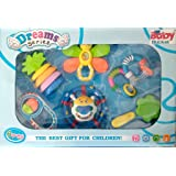 Baby Bucket Musical Rattle Set, Multi Color (Set Of 6)