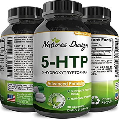 5 HTP Supplement for Women + Men Mood Support Relaxation and Stress Reduction Sleep Better Appetite Suppressant for Weight Loss - Maximum Strength 5-HTP Herbal Griffonia Simplicifolia Wellness Vitamin