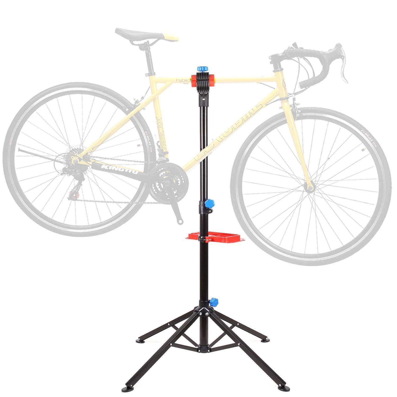FIXKIT メカニックバイク修理スタンド ツールトレイ付き 調整可能 リリース伸縮自転車メンテナンスラック 軽量 ホームワークスタンド   B07Q22LMXZ